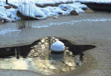 Kerti tó levegőztetés télen